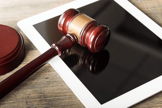 Gavel and Ipad - Legal Technology
